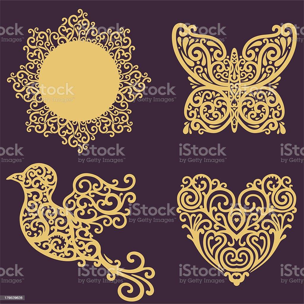 sun love set vector art illustration