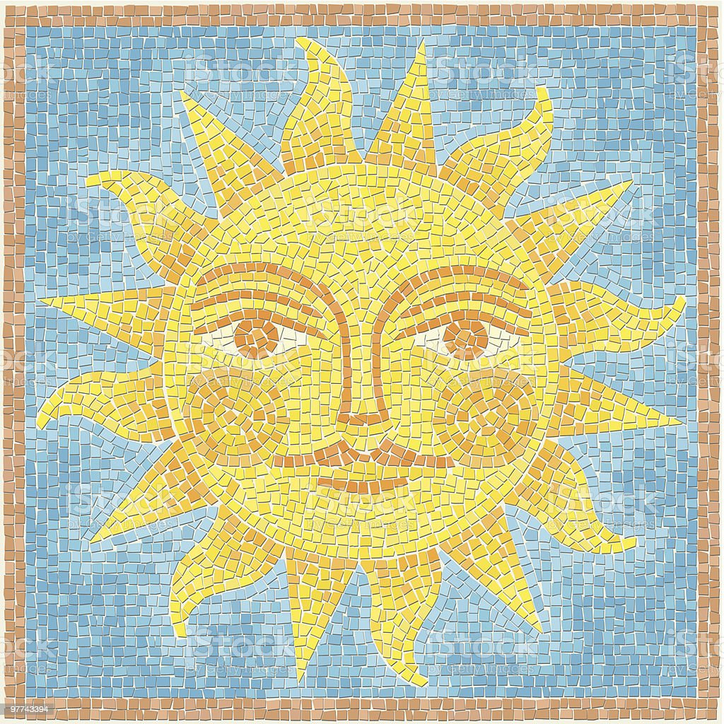 Sun Mosaic vector art illustration