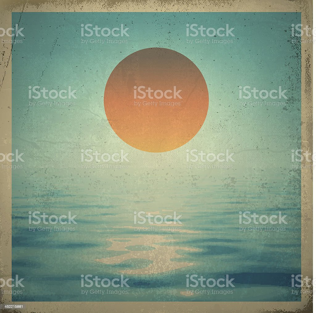 Sun Over Water royalty-free stock vector art