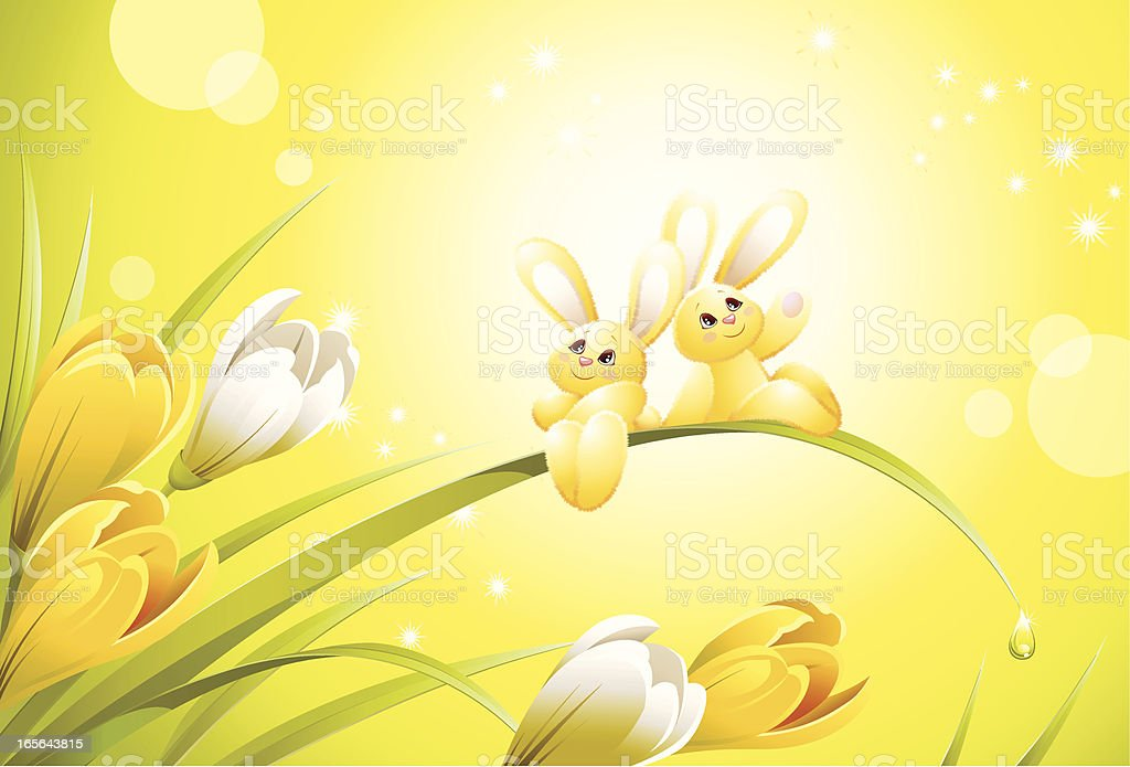 Sun rabbit royalty-free stock vector art