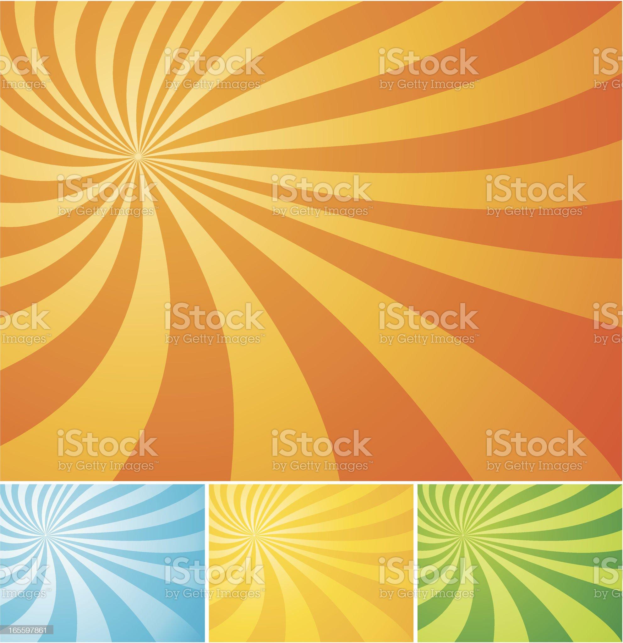 Sun Ray Swirl Background royalty-free stock vector art