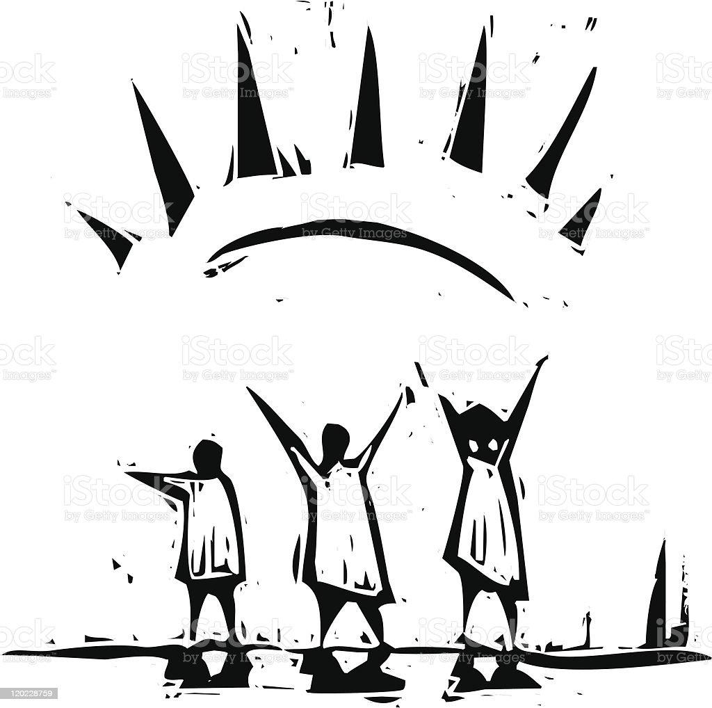 Sun Ray royalty-free stock vector art