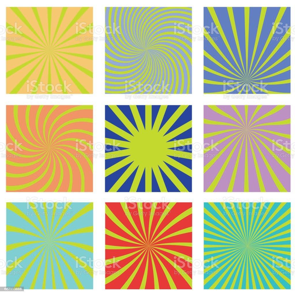 sun rays background vector art illustration