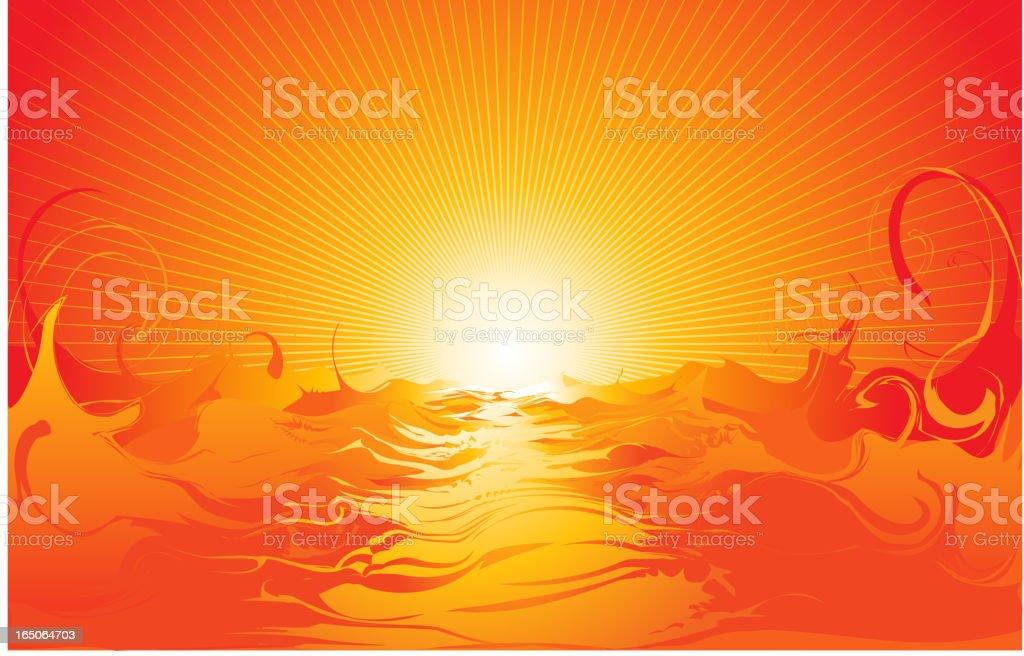 Sun Rise royalty-free stock vector art
