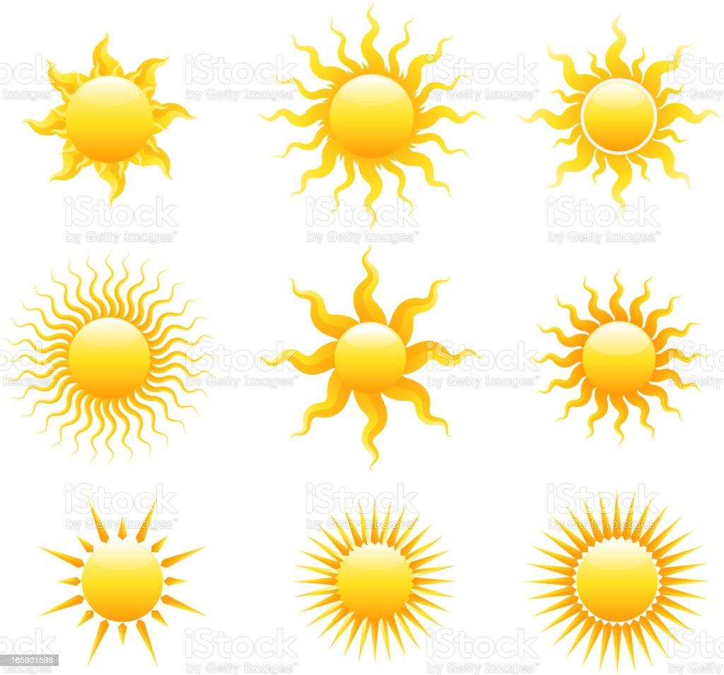 Sun set royalty-free stock vector art