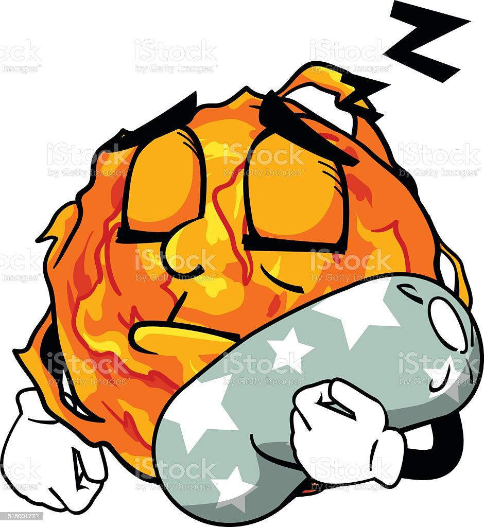 Sun Sleeeping royalty-free stock vector art