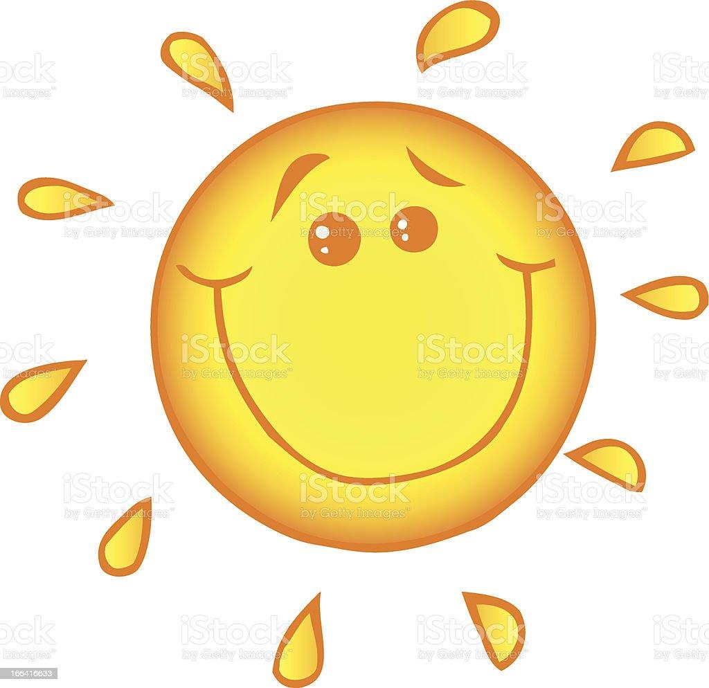 Sun Smiling royalty-free stock vector art