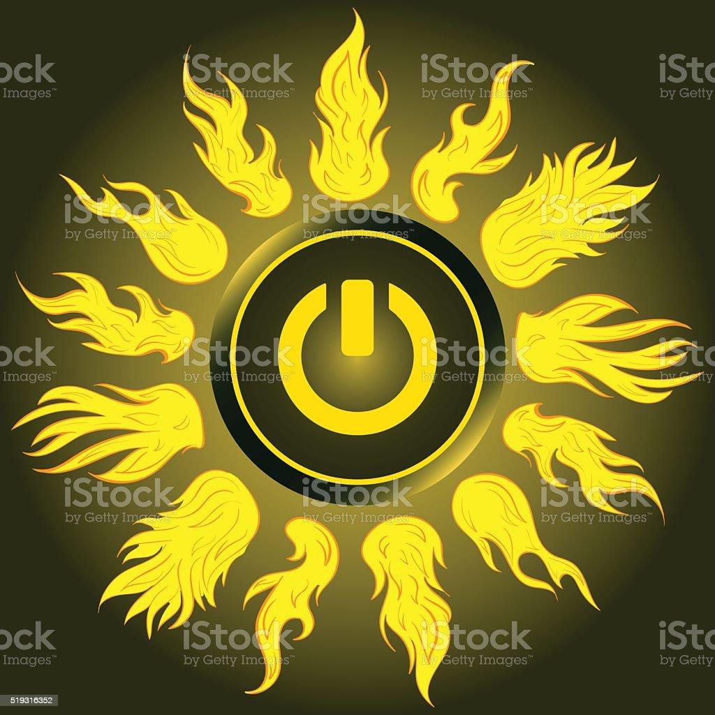 Sonne Symbol Ausschalten Vektor Illustration 519316352   iStock