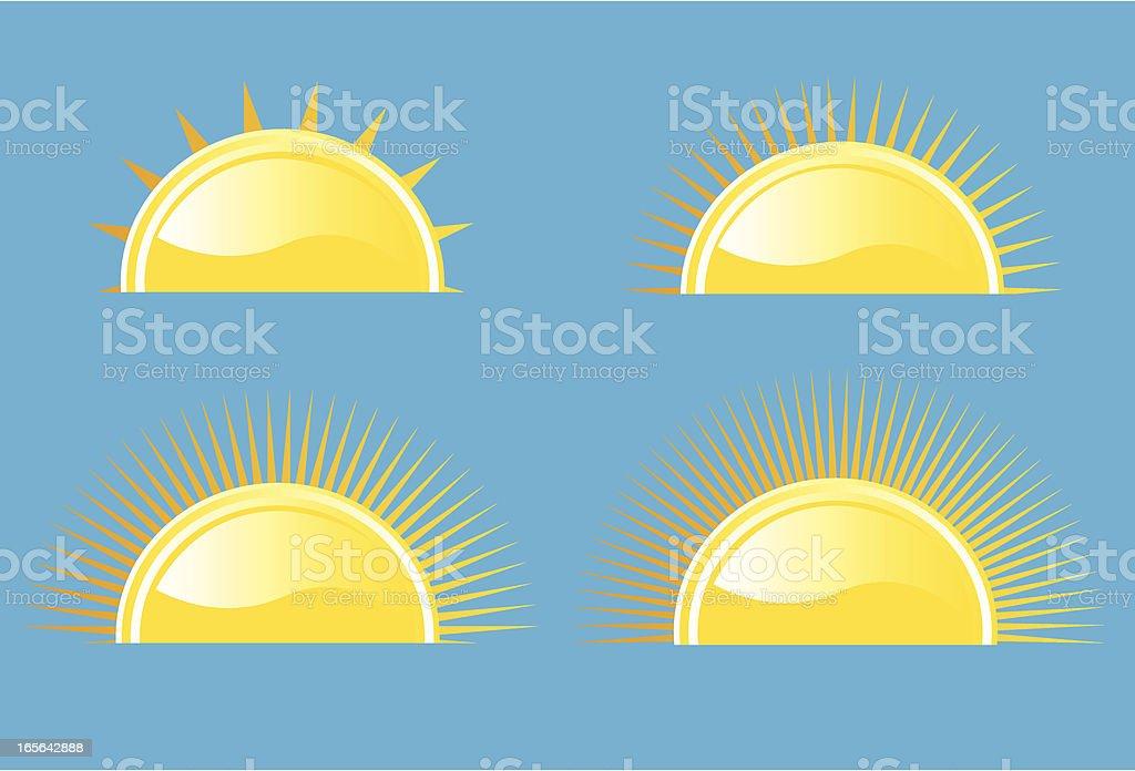 Sun Symbol Vector Set vector art illustration