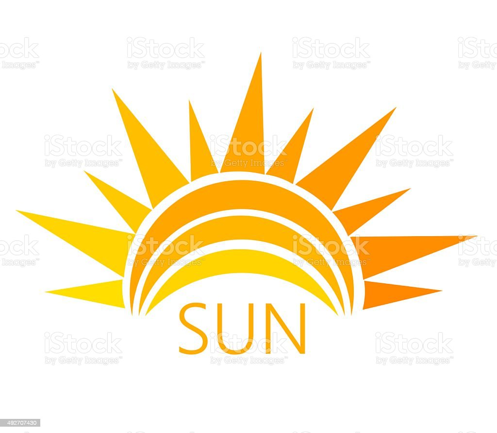 Sun symbol vector vector art illustration