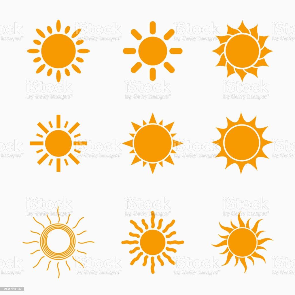 Sun symbols royalty-free stock vector art
