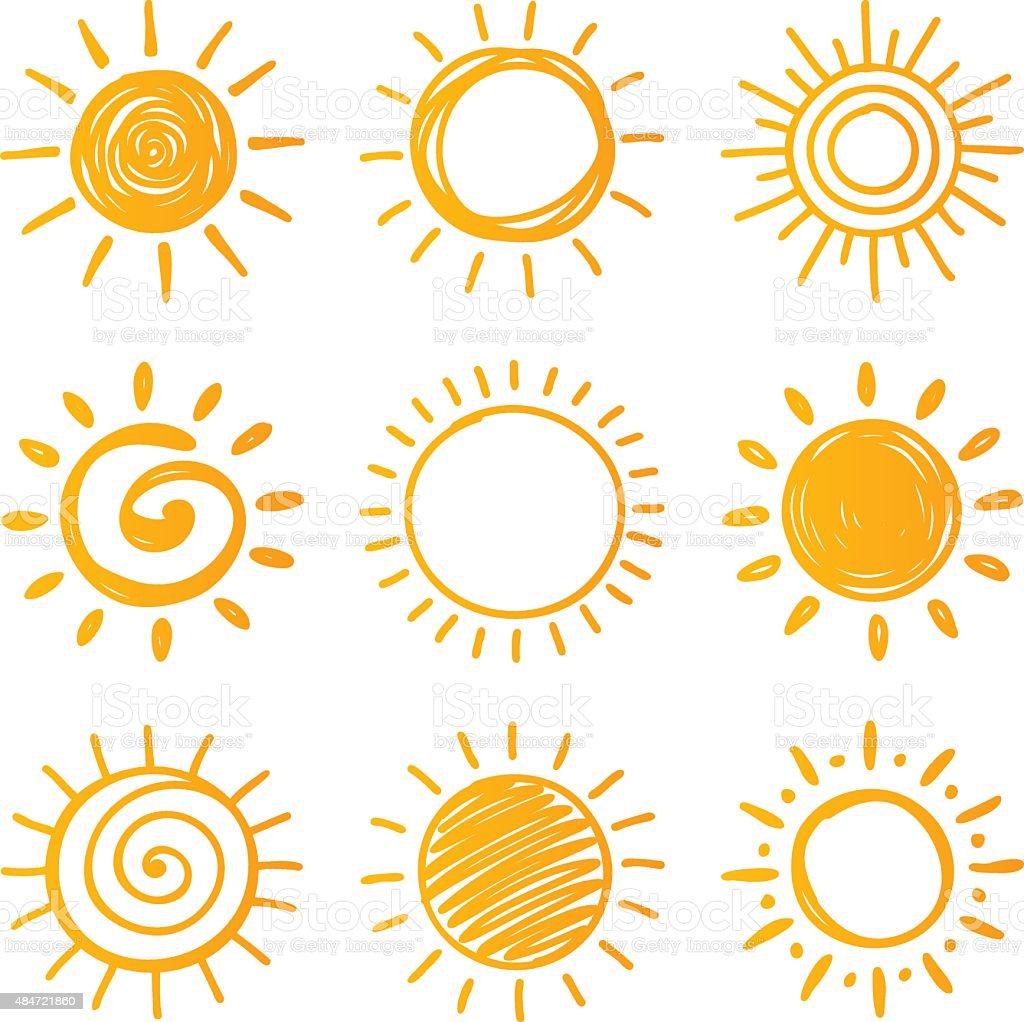 Sun vector art illustration