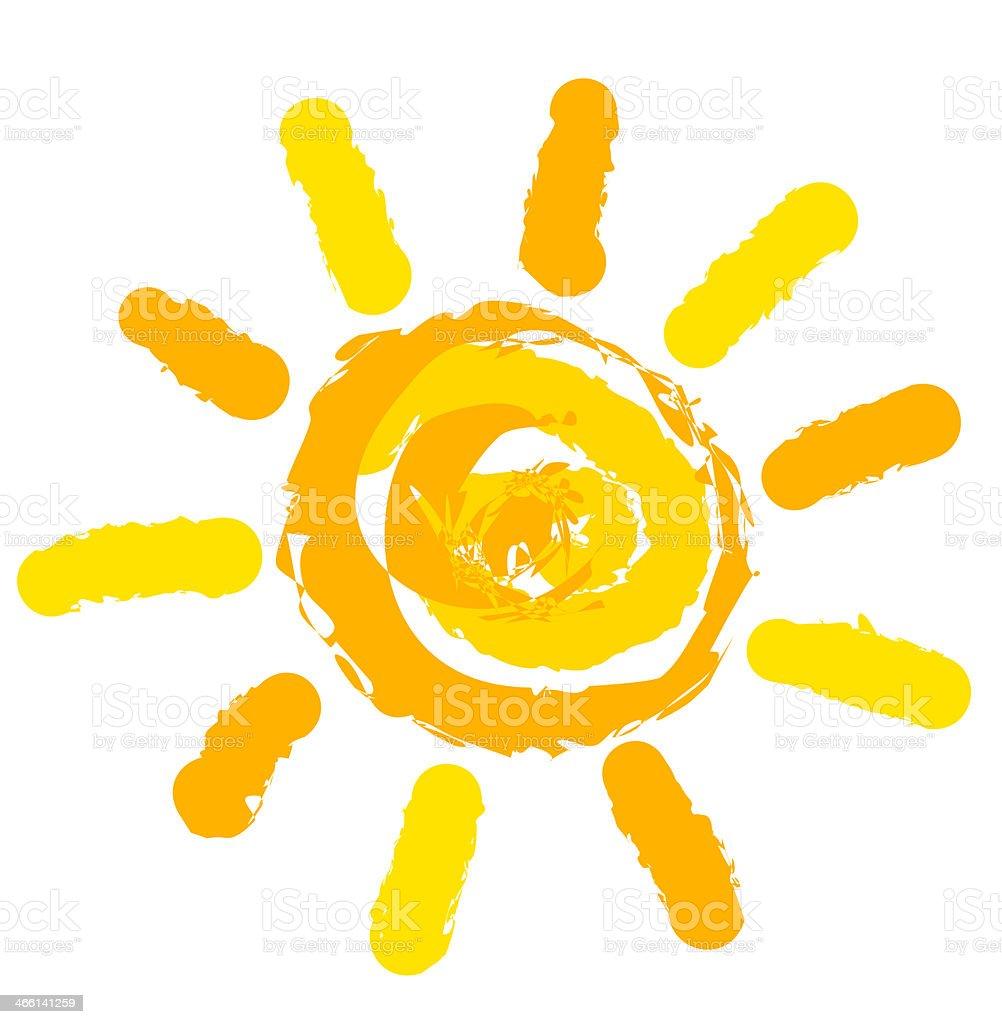 Sun vector vector art illustration