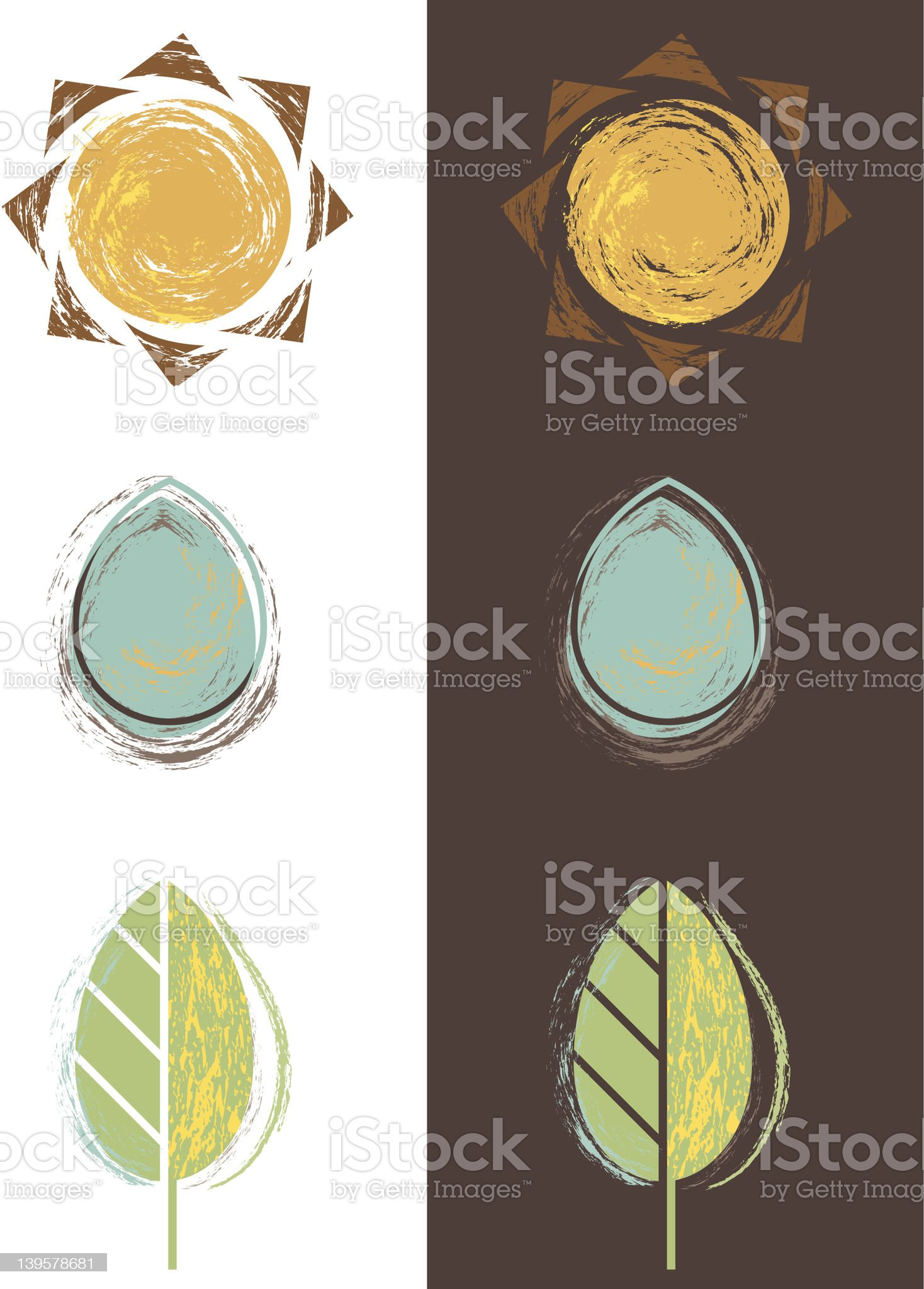 Sun Water Plant royalty-free stock vector art