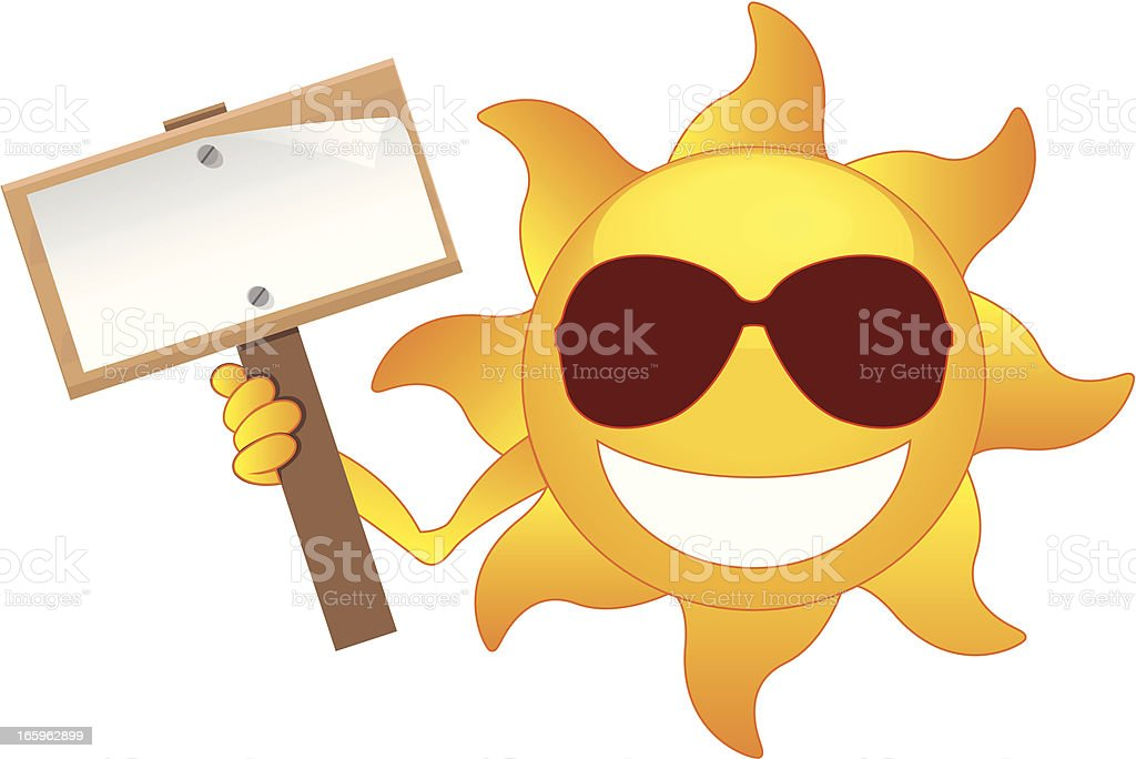 sun with banner royalty-free stock vector art
