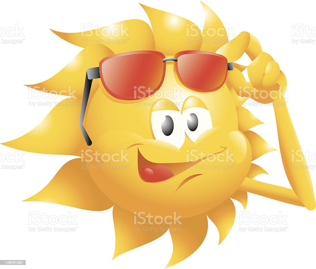 sun with glasses royalty-free stock vector art
