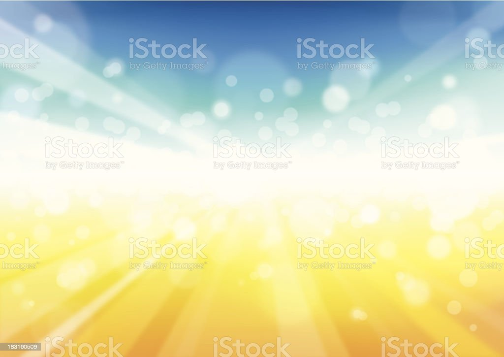 Sunbeam Background - Illustration vector art illustration