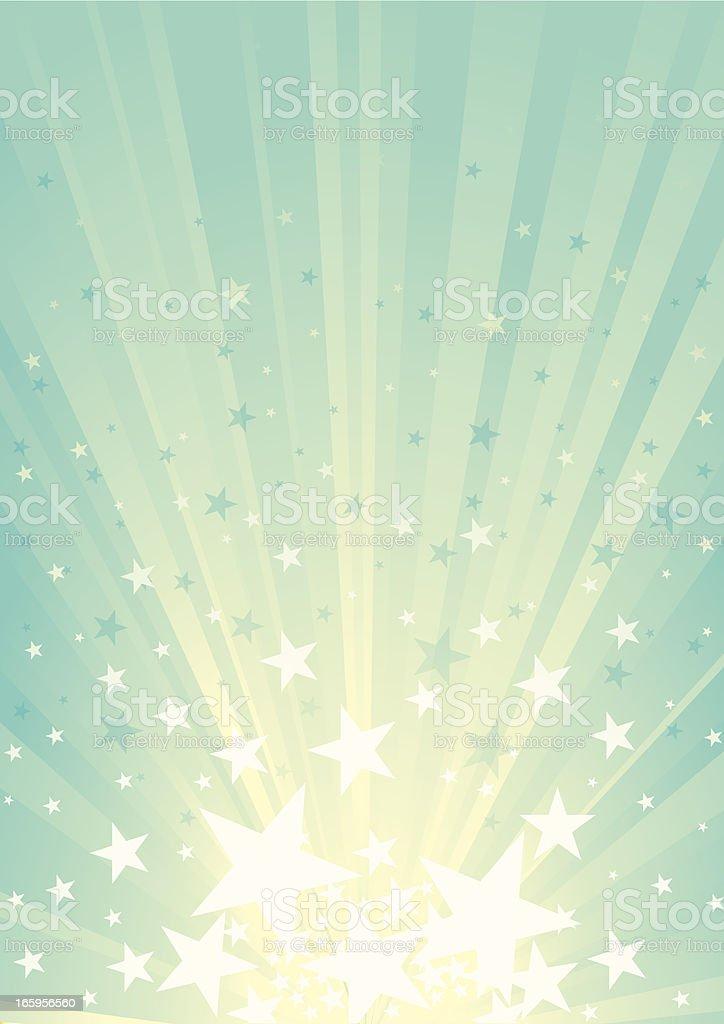 Sunbeam & Star burst vector art illustration