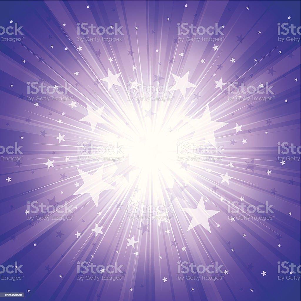 Sunbeam & Star vector art illustration
