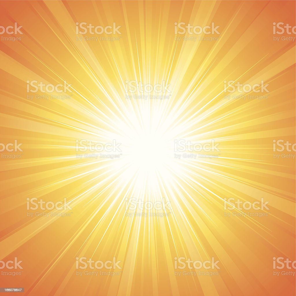 Sunbeam vector art illustration