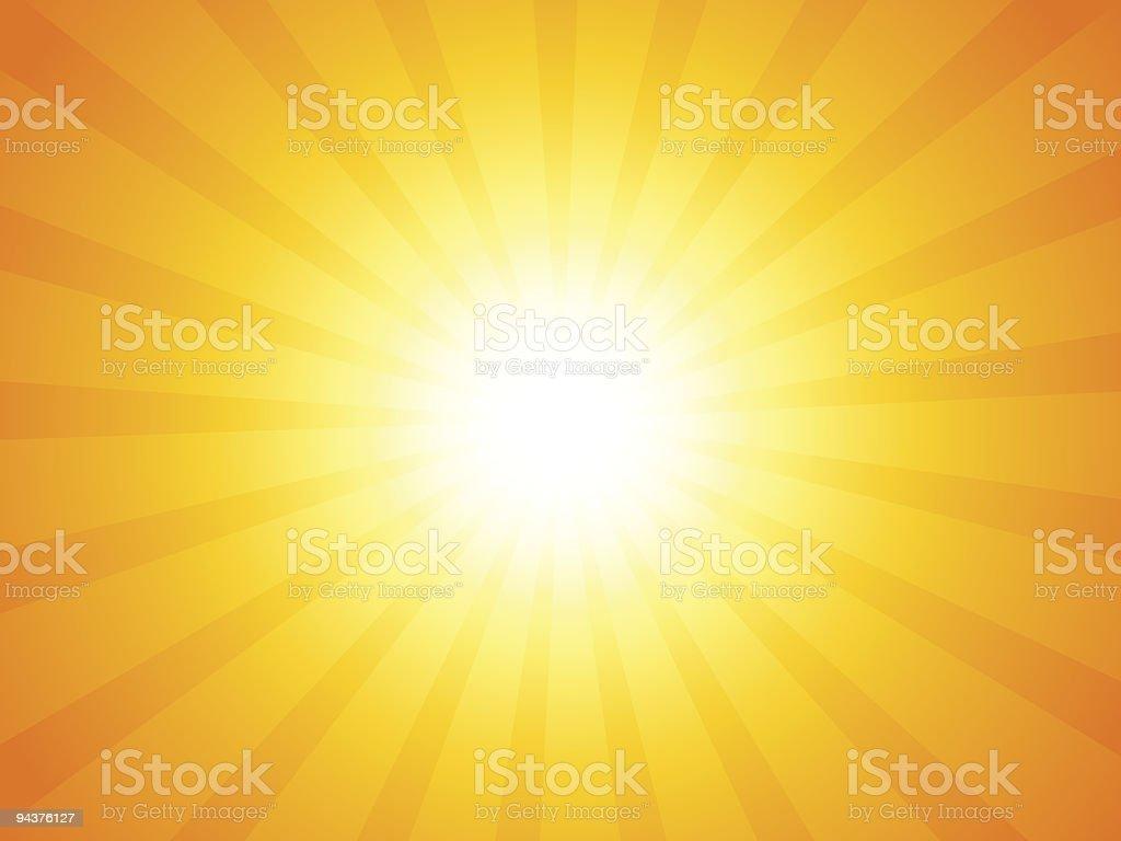 Sunbeam vector art illustration