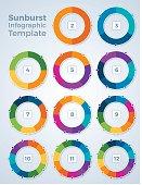 Sunburst Chart Infographic Template Graphs