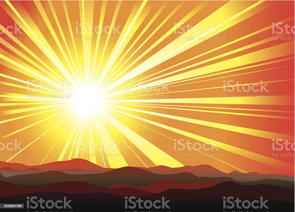 Sunburst royalty-free stock vector art