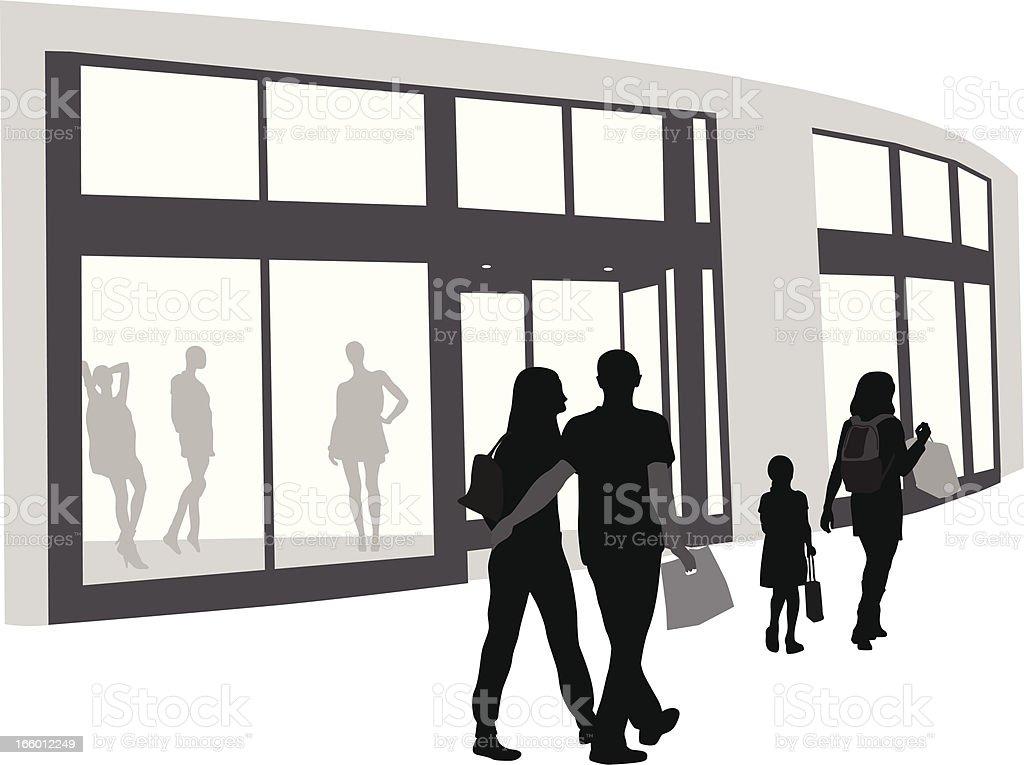 Sunday Shopping royalty-free stock vector art