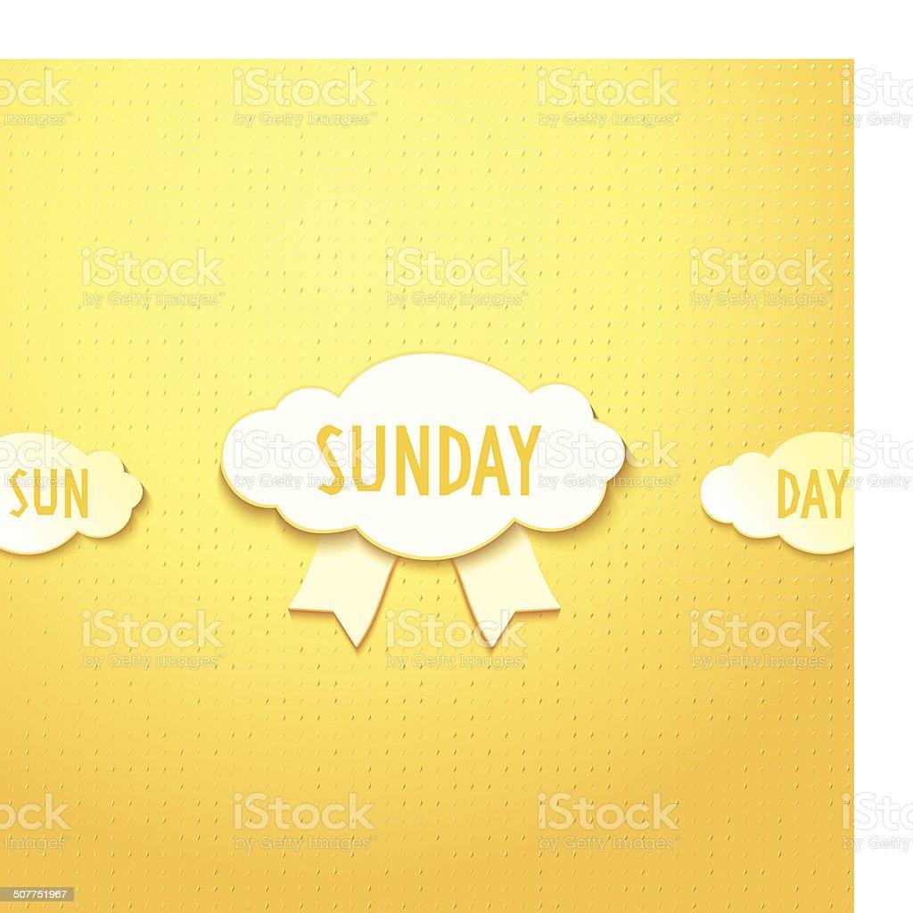 Sunday vector art illustration