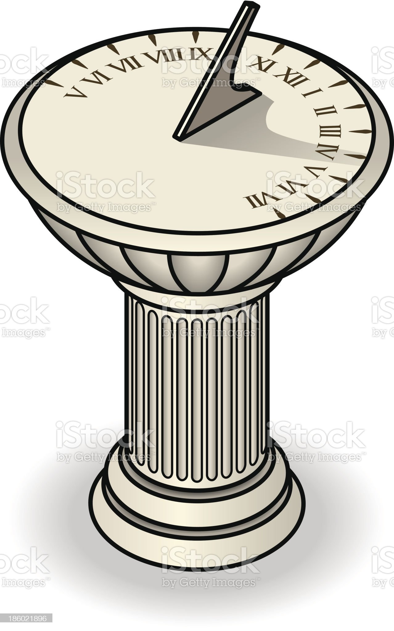 Sundial royalty-free stock vector art