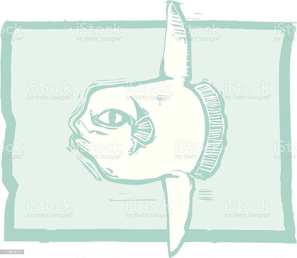 Sunfish royalty-free stock vector art