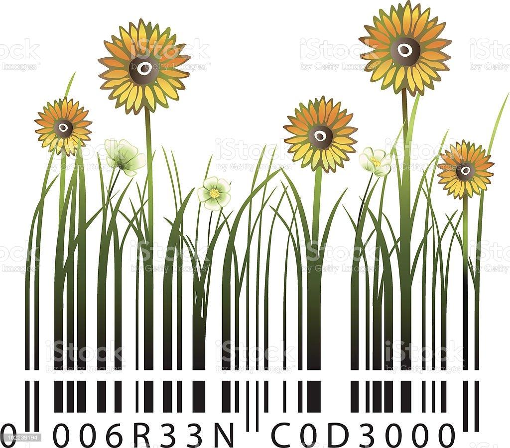 Sunflower Barcode royalty-free stock vector art