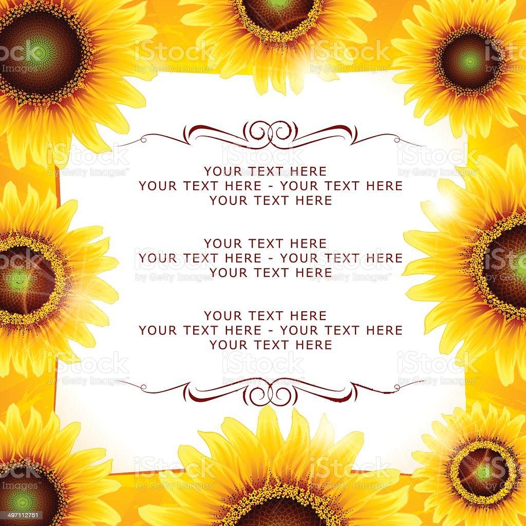 Sunflower Frame royalty-free stock vector art