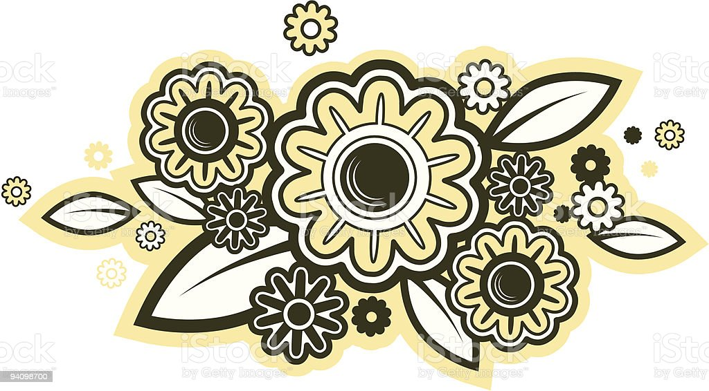 sunflower ornament royalty-free stock vector art