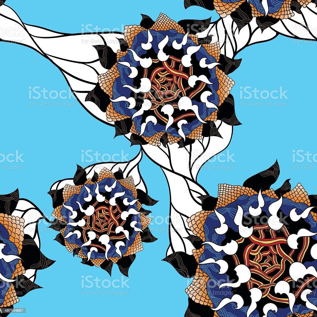 Sunflower pattern royalty-free stock vector art