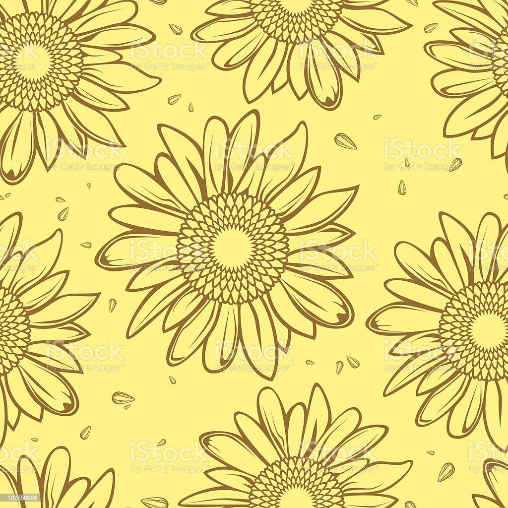 sunflower seamless background royalty-free stock vector art