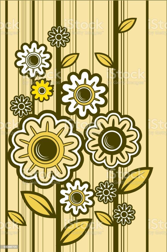 sunflower stripes royalty-free stock vector art