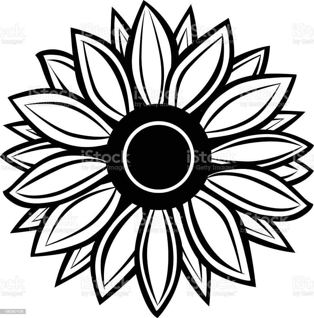 Sunflower stock vector art 490367408   iStock