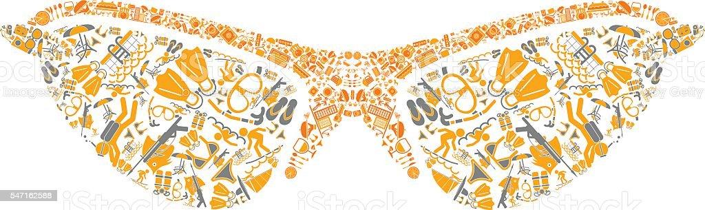 Sunglases vector art illustration