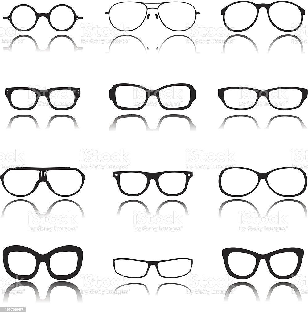 Sunglasses Icon Set royalty-free stock vector art