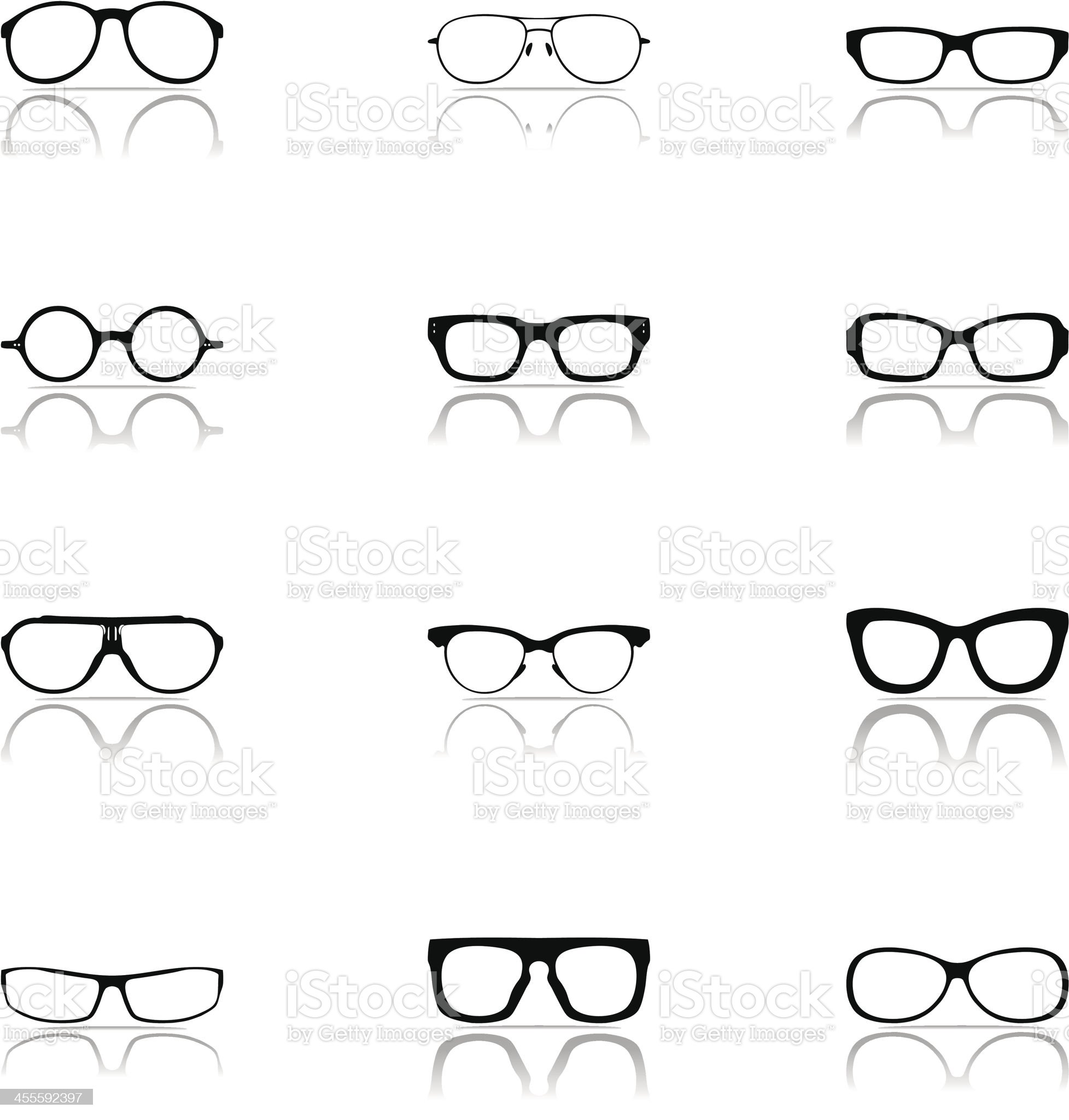 Sunglasses Icon Set royalty-free stock vector art