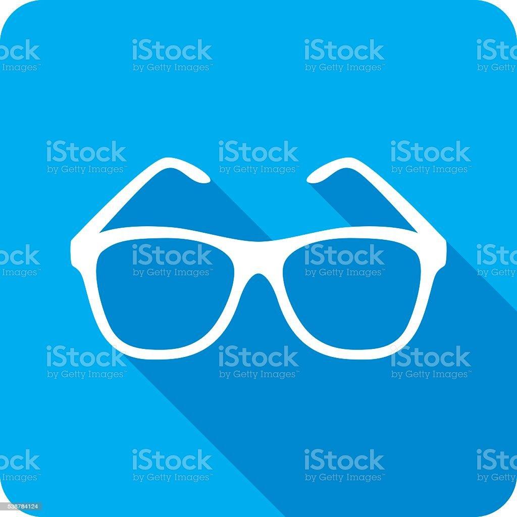 Sunglasses Icon Silhouette vector art illustration