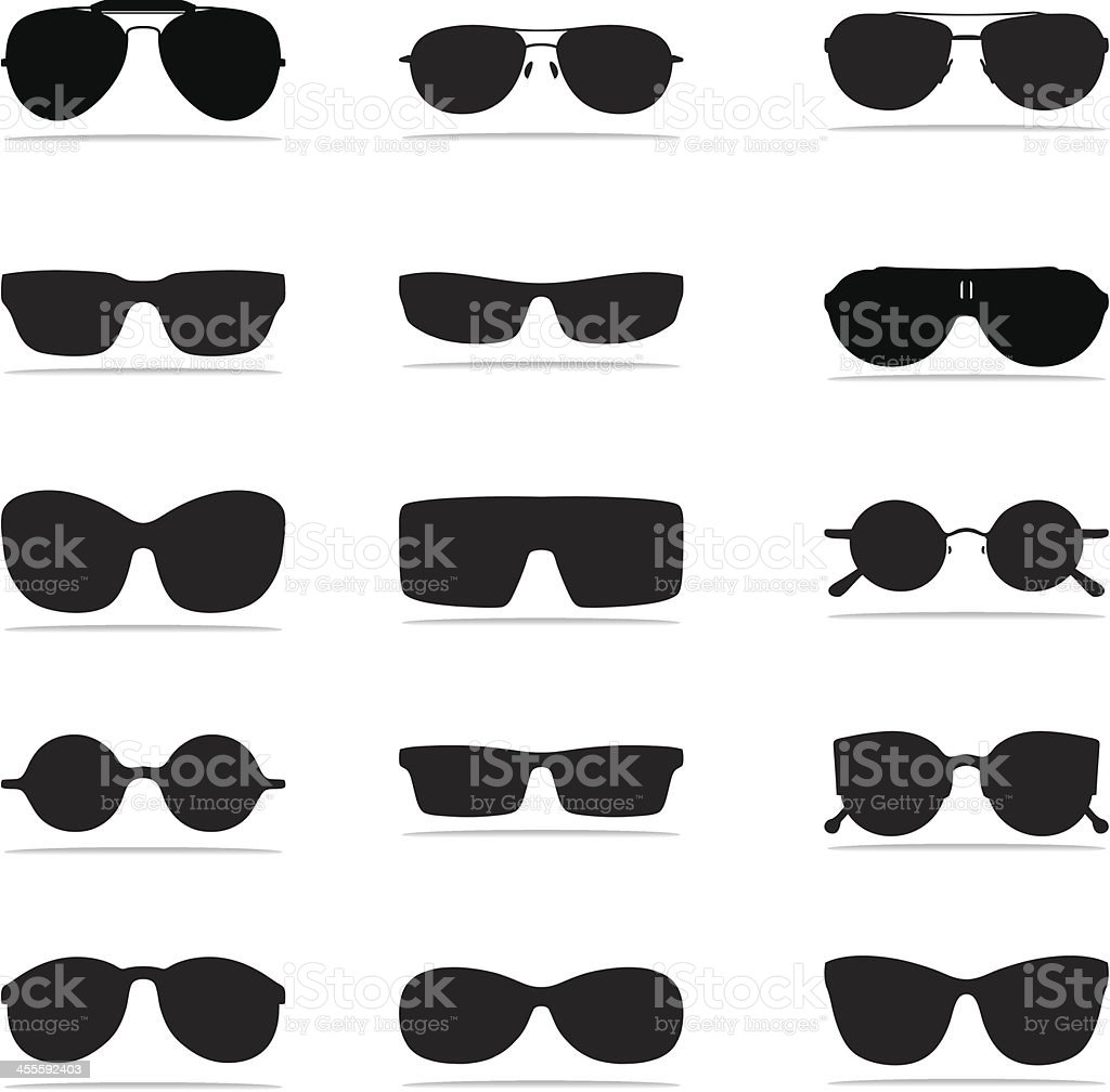 Sunglasses Icon Silhouettes royalty-free stock vector art
