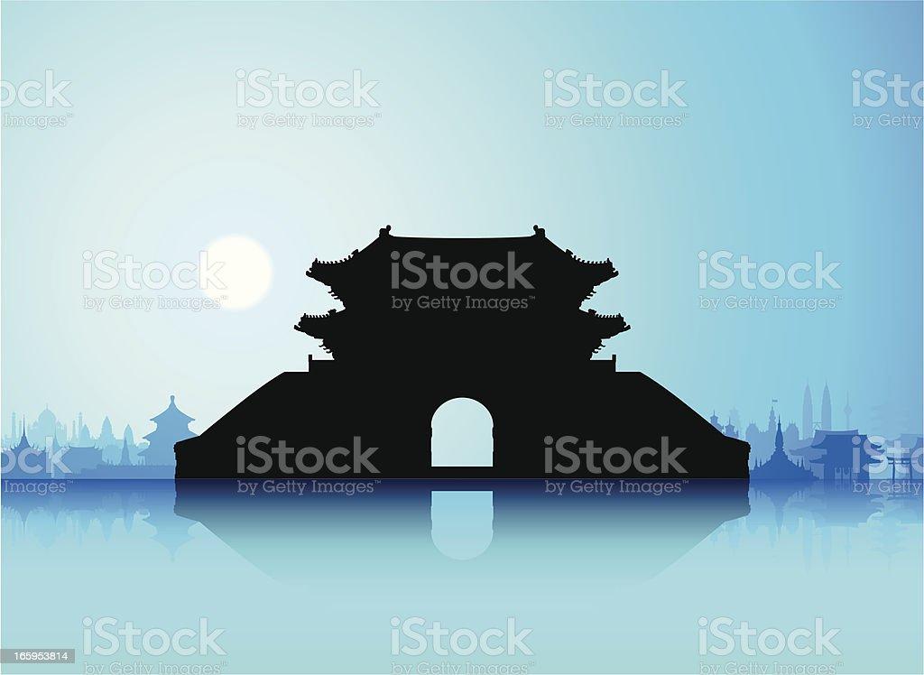 Sungnyemun (Namdaemun Gate), Korea royalty-free stock vector art