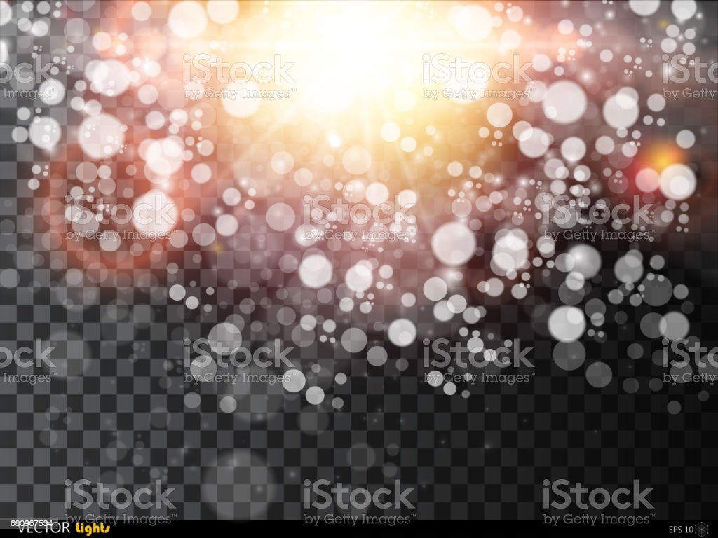 Sunlight or burst vector special light effect isolated on plaid background. vector art illustration
