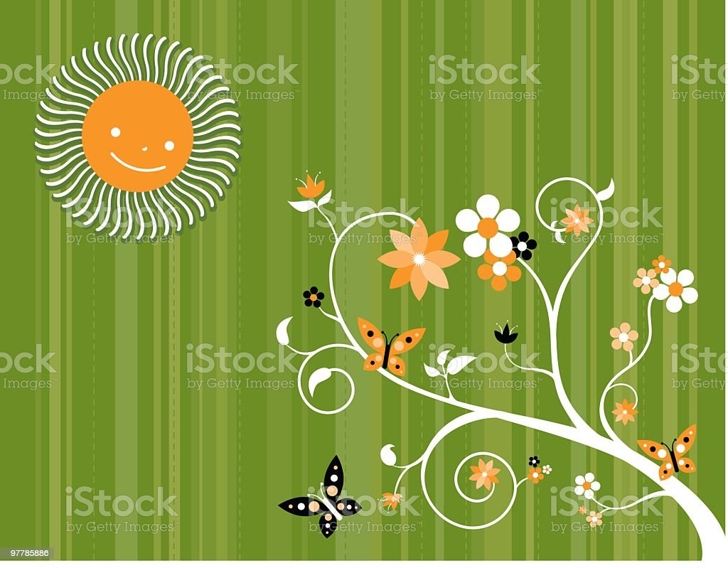 Sun'll Make It Grow royalty-free stock vector art