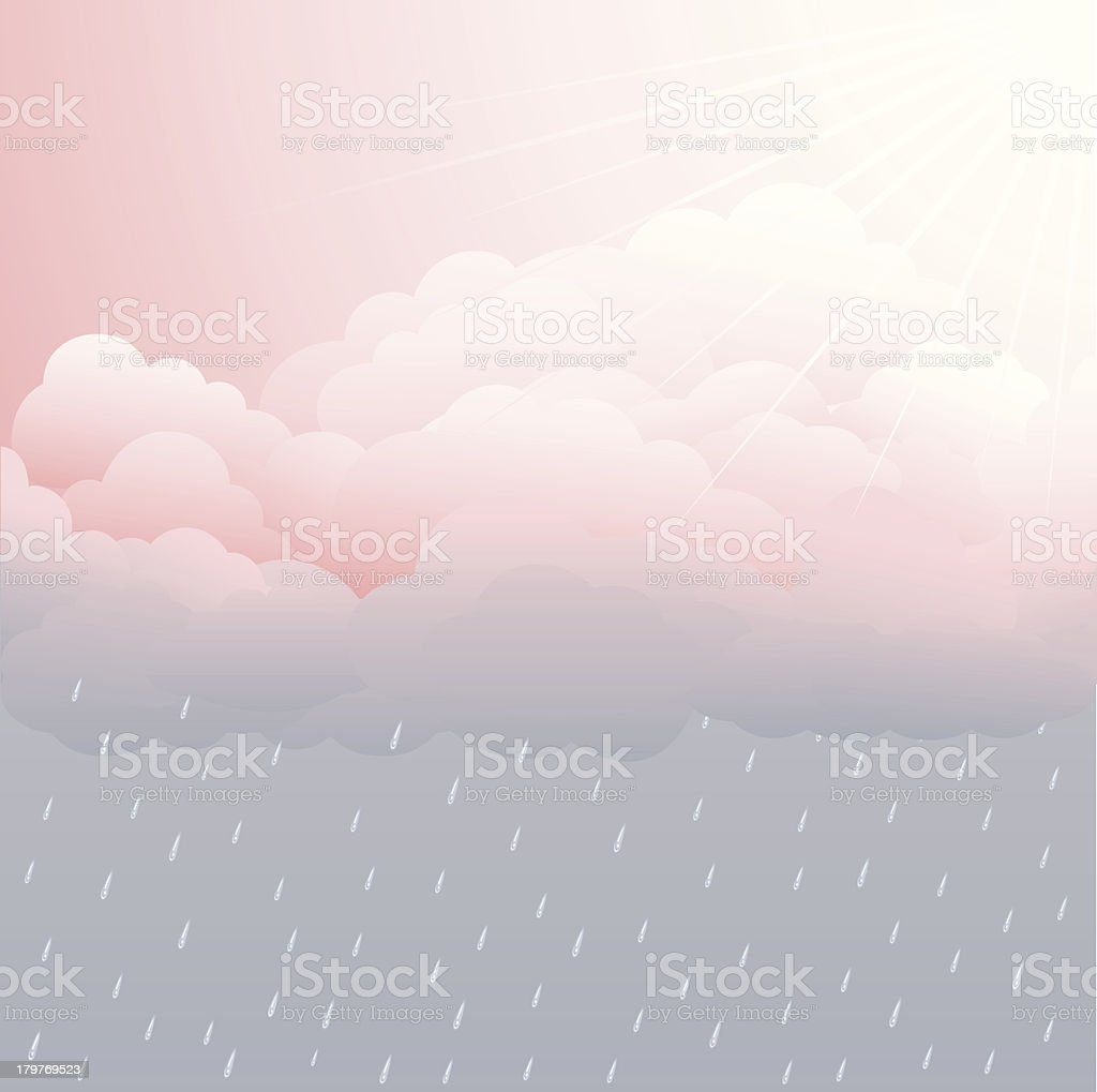 Sunny and Rainy royalty-free stock vector art