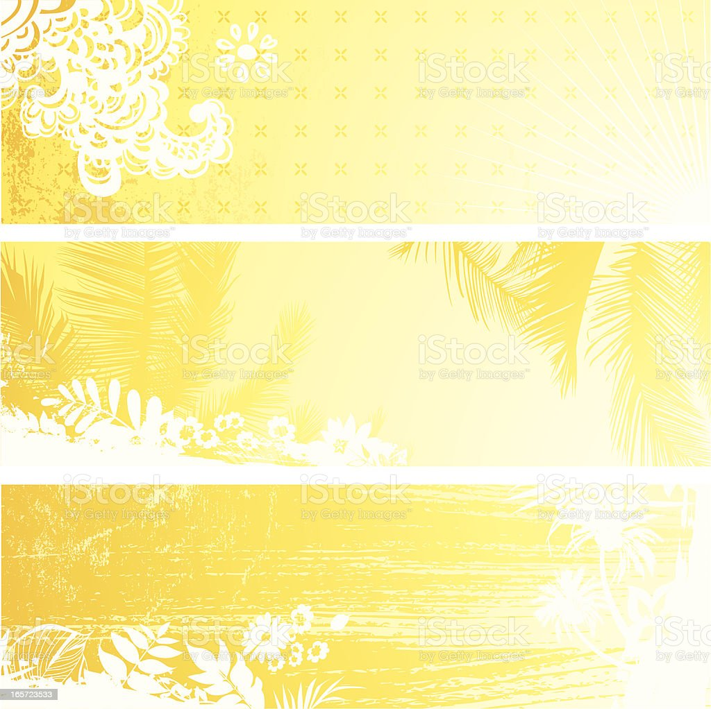 Sunny banner royalty-free stock vector art