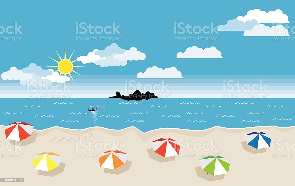 Sunny beach Lizenzfreies vektor illustration