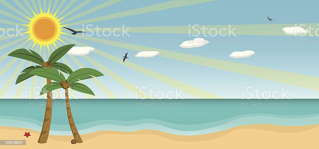 Sunny Beach Vector royalty-free stock vector art